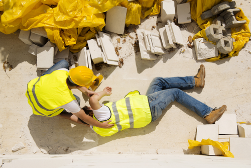 Construction accident worker's compensation