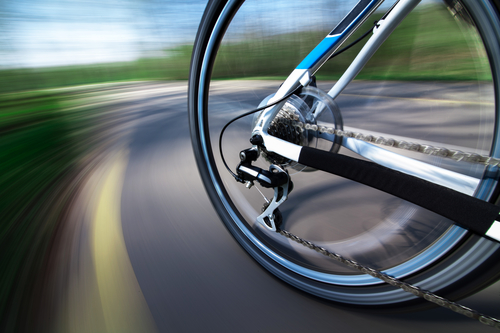 Bicyclist and the dangers