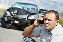 Man calling uninsured motorist attorney